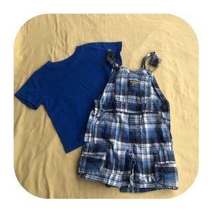 Oshkosh overalls & Garanimals T-shirt 18M